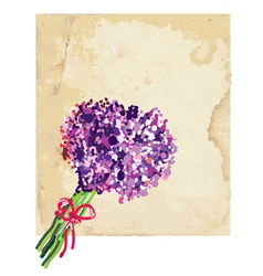 Greeting background with lilac vector image