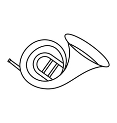 Horn trumpet icon outline style vector image vector image