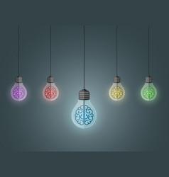 lightbulbs hang vector image vector image