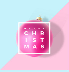 pastel colors gentle christmas greeting card vector image