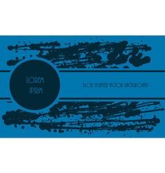 Splatter blue paint vector image vector image