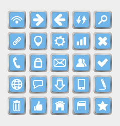 square icons social media and internet vector image