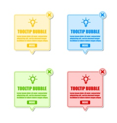 tool tip design elements vector image vector image