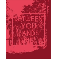 a tree print T-shirt vector image vector image