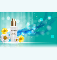Design cosmetics skin toner product bottle with vector