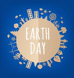 earth day postcard vector image