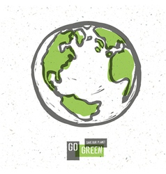 earth planet go green concept vector image