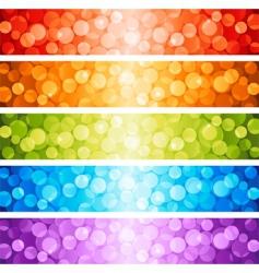 shiny lights dots vector image vector image