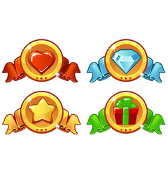 cartoon colored icon design for game ui vector image vector image