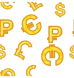 Money signs pattern cartoon style vector image vector image