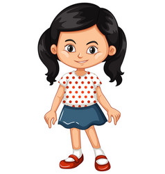 asian girl with happy face vector image