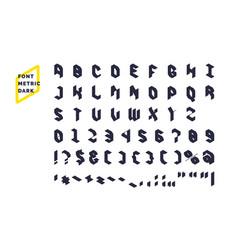 modern technical display font metric set all vector image vector image