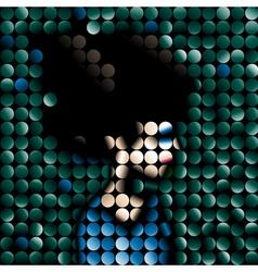 mosaic portrait vector image vector image
