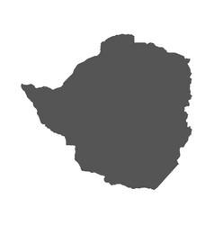zimbabwe map black icon on white background vector image vector image