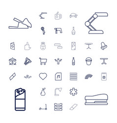 37 color icons vector