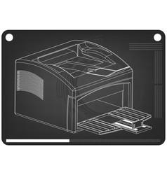 3d model of printer on a black vector image