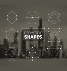 Abstract regular geometric shapes set vector