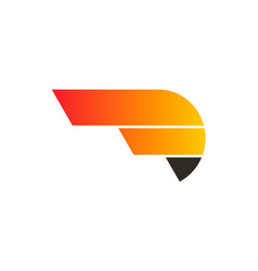 Abstract shape speed company logo vector