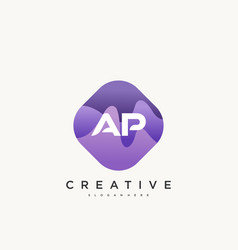 Ap initial letter logo icon design template vector