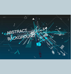 Attractive abstract background with dynamics lines vector