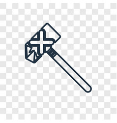 axe concept linear icon isolated on transparent vector image