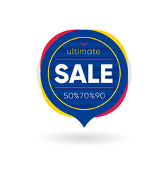 Banner with ultimate sale offer vector