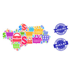Best shopping composition of mosaic map of vector