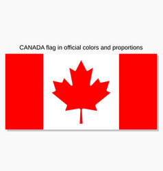 canada flag official vector image