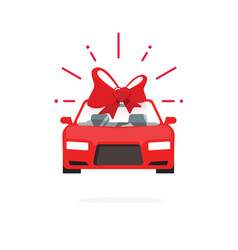 Car special offer idea red color auto sale price vector