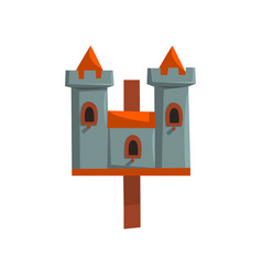 castle bird house nesting box cartoon vector image