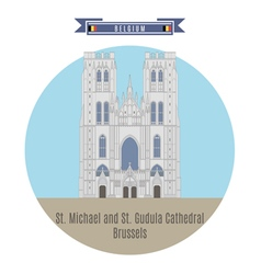 Cathedral Brussels vector image