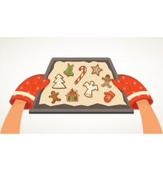 Christmas bakery gingerbread cookies vector image