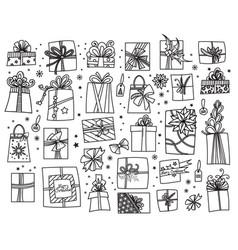 christmas presents set vector image