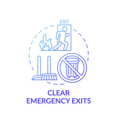 Clear emergency exits concept icon vector