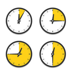 clock icon with parts hour icon set vector image