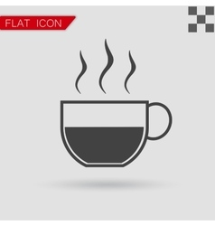 Coffee cup icon Flat Style with red vector image