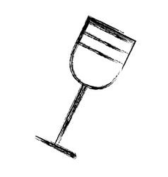 contour tasty wine glass icon vector image vector image