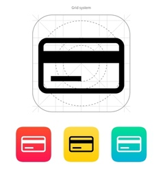Credit card magnetic tape icon vector