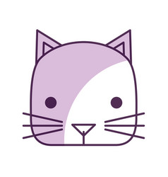 Cute little cat icon vector