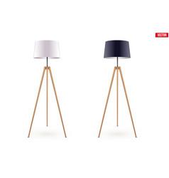 decorative floor lamp tripod vector image