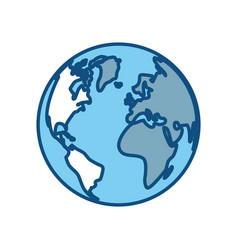 Earth planet icon vector