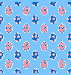 easter eggs seamless pattern15 vector image