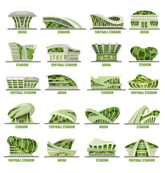 exterior view on soccer or football stadium vector image