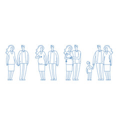 family stages young couple pregnancy parenthood vector image
