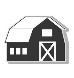 farm barn house icon icon vector image