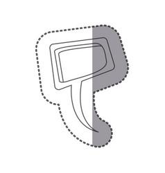 Figure squere chat bubble icon vector