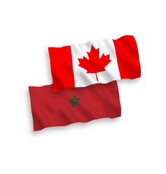 Flags canada and morocco on a white background vector