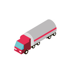 fuel tanker truck transport vehicle isometric icon vector image
