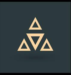 geometric triangles logo design element business vector image