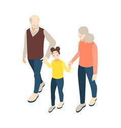 grandparents isometric icon vector image